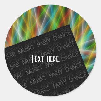 Barra, música, fiesta, danza - pegatinas redondos pegatina redonda