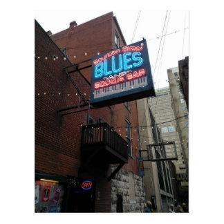Barra Nashville TN de la boogie de los azules de Tarjeta Postal