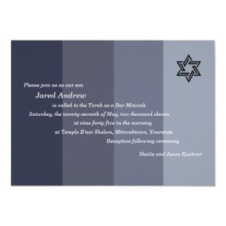 Barra negra tonal Mitzvah Invitación 12,7 X 17,8 Cm