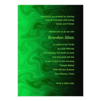 Barra ondas negras y verdes de Mitzvah Comunicados Personales