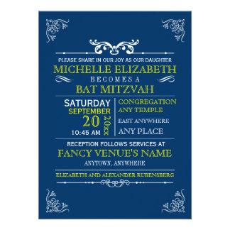 Barra-Palo Mitzvah del poster de la tipografía del Invitación Personalizada