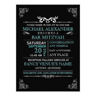 Barra-Palo Mitzvah del poster de la tipografía del Invitaciones Personalizada