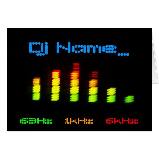 Barra personal EQ del equalizador de DJ Felicitacion