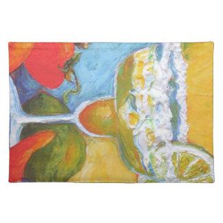 Barra Placemat de las pimientas de Margarita y de  Mantel Individual