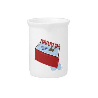 Barra portátil jarras para bebida