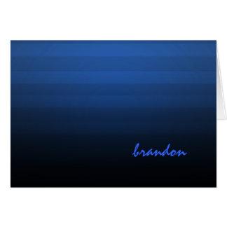Barra raya horizontal azul y negra de Mitzvah Tarjeta Pequeña
