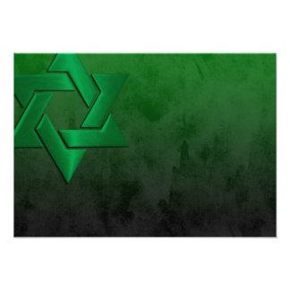 Barra recepción negra y verde de Mitzvah del Grung Comunicado Personalizado