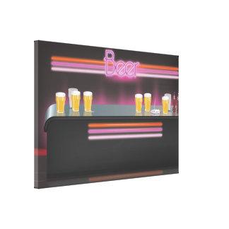 barra retra de los años 80 impresión en lona estirada