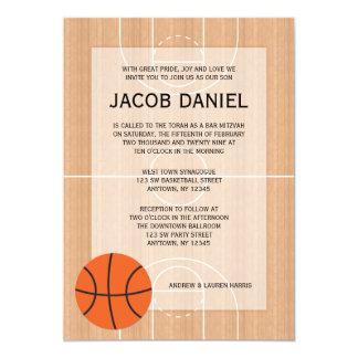 """Barra temática Mitzvah del baloncesto Invitación 5"""" X 7"""""""
