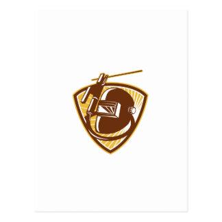 Barra-Tenedor y electrodo de la soldadura del Postales