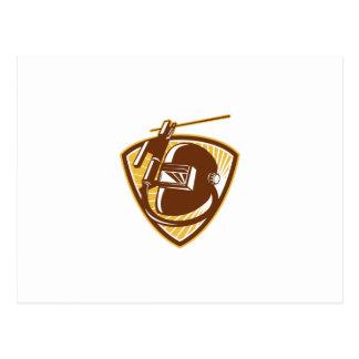 Barra-Tenedor y electrodo de la soldadura del Tarjeta Postal