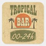 Barra tropical etiquetas