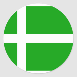 Barra, United Kingdom flag Classic Round Sticker