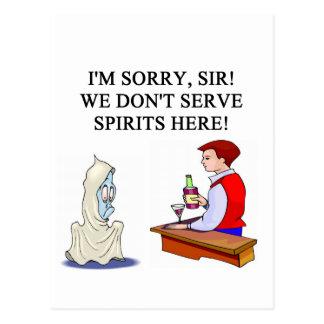 barra y chiste de consumición del fantasma tarjeta postal