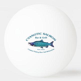 Barra y parrilla de color salmón cianóticas pelota de tenis de mesa