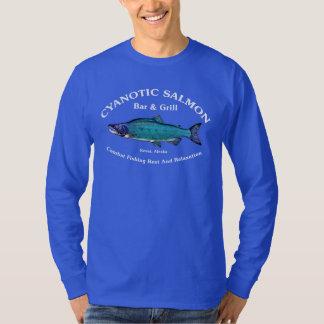 Barra y parrilla de color salmón cianóticas playera