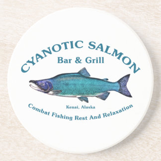 Barra y parrilla de color salmón cianóticas posavasos manualidades