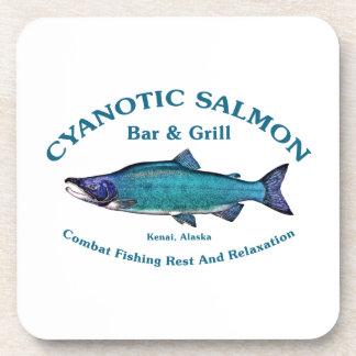 Barra y parrilla de color salmón cianóticas posavasos