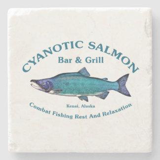 Barra y parrilla de color salmón cianóticas posavasos de piedra