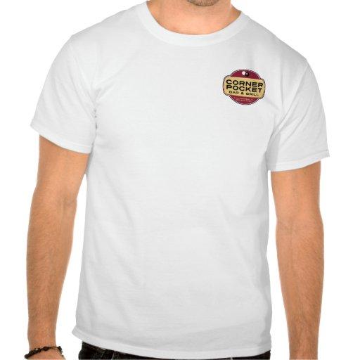 Barra y parrilla de la esquina del bolsillo camisetas