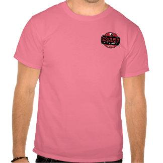 Barra y parrilla de la esquina - ROJO del bolsillo Camiseta