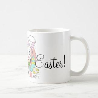 Barra y tirada estupendas Pascua Taza Básica Blanca