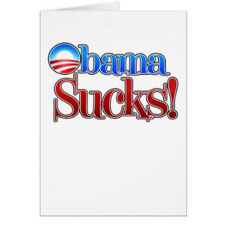 Barrack Obama Sucks Card