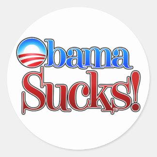 Barrack Obama Sucks Classic Round Sticker