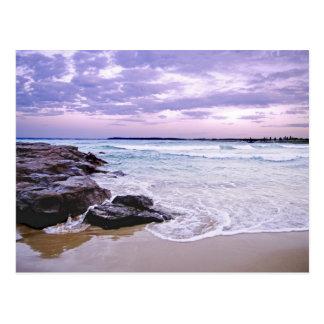 Barrack Point sunset waves Postcard
