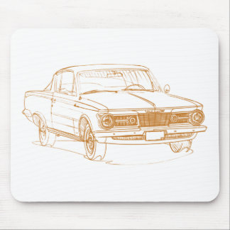 Barracuda 1965 de la capa tapetes de ratón