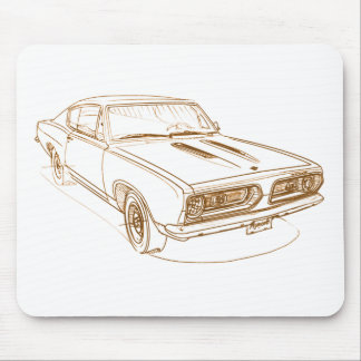 Barracuda 1967 de la capa tapetes de ratón