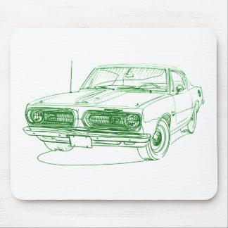 Barracuda 1968 de la capa alfombrillas de raton