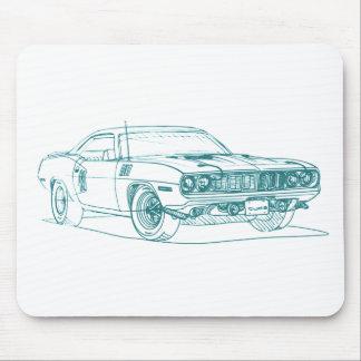 Barracuda 1971 de la capa 440 alfombrilla de ratones