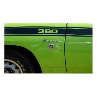 Barracuda 360 sport classic car image business card