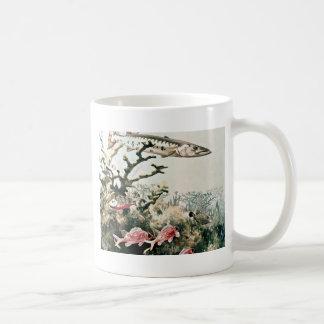 Barracuda and Reef Fishes Coffee Mugs