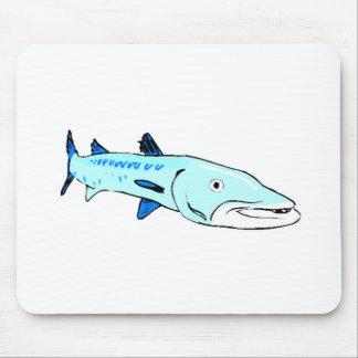 Barracuda azul alfombrilla de ratón