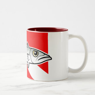Barracuda Dive Flag Two-Tone Coffee Mug