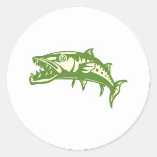 Barracuda Fish #4 Round Sticker