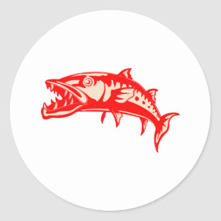 Barracuda Fish #6 Classic Round Sticker