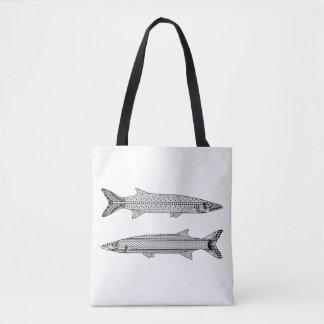 Barracuda Fish Adult Coloring Full Tote