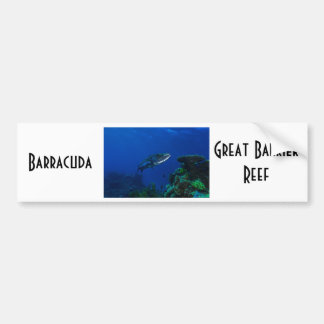 Barracuda Great Barrier Reef Coral Sea Bumper Sticker