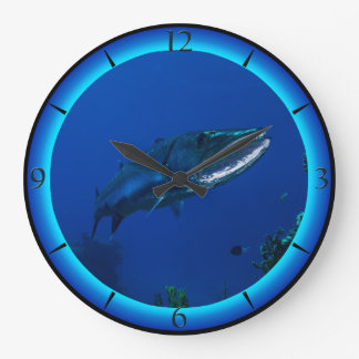 Barracuda Great Barrier Reef Coral Sea Gift Large Clock