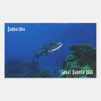Barracuda Great Barrier Reef Coral Sea Rectangular Sticker