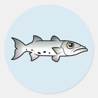 Barracuda lindo etiquetas redondas