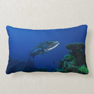 Barracuda on the Great Barrier Reef Lumbar Pillow