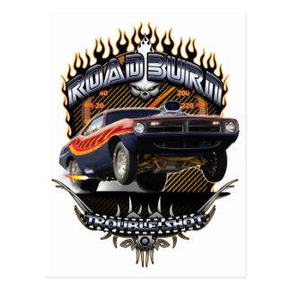 Barracuda Road Burn Postcard