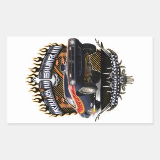 Barracuda Road Burn Rectangular Sticker