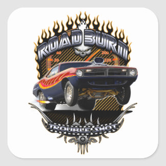 Barracuda Road Burn Square Sticker