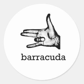 Barracuda Round Sticker