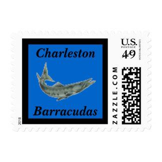 Barracuda School Mascot postage stamp